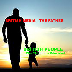 , BRITISH Media British People Relations Are like Father and child Relations from the Left to the Right. And Why this must STOP?